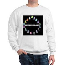 BEATCANCER.NET Small Poster Sweatshirt