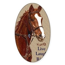 Live! Laugh! Ride! Horse Decal