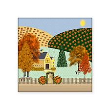 "Pumpkin Hollow Square Sticker 3"" x 3"""