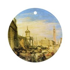 William Turner Venice Round Ornament