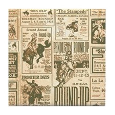 Vintage Rodeo Round-Up Tile Coaster