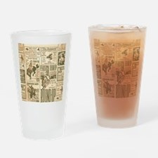 Vintage Rodeo Round-Up Drinking Glass