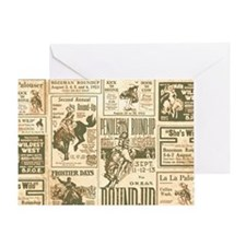 Vintage Rodeo Round-Up Greeting Card