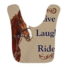 Live! Laugh! Ride! Horse Bib