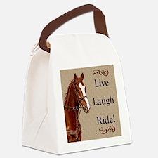 Live! Laugh! Ride! Horse Canvas Lunch Bag
