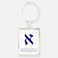 Aleph Hebrew letter Portrait Keychain