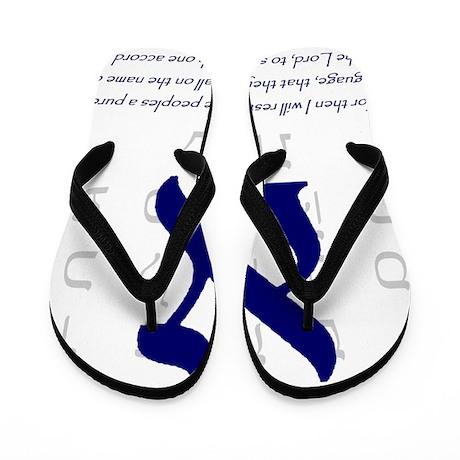 Aleph Hebrew letter Flip Flops