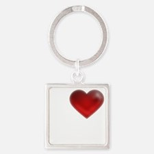 I Heart Montreal Square Keychain
