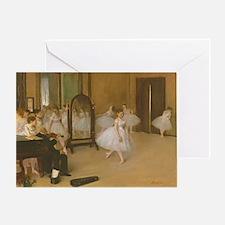 Degas Dancing Class Greeting Card