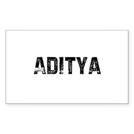 Aditya Rectangle Sticker