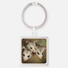 Possum BSnuttles Square Keychain