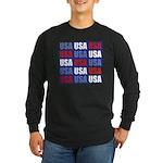 USA Long Sleeve Dark T-Shirt