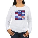 USA Women's Long Sleeve T-Shirt
