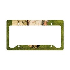 Military soldier laying on gr License Plate Holder