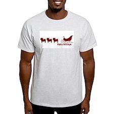 """Yorkie """"Sleigh"""" T-Shirt"""