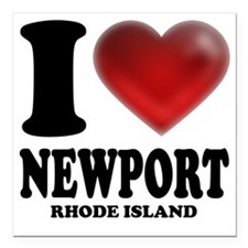 "I Heart Newport Square Car Magnet 3"" x 3"""