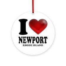 I Heart Newport Round Ornament