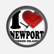 I Heart Newport Wall Clock