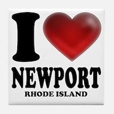 I Heart Newport Tile Coaster