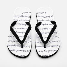 Bet Hebrew letter with Psalm 119 verses Flip Flops