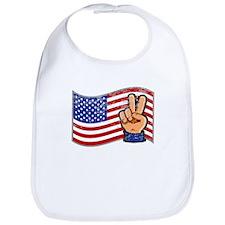Patriotic Peace Hand Bib