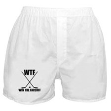 WTF Win The Faceoff Boxer Shorts