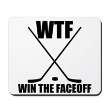 WTF Win The Faceoff Mousepad