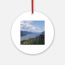 Columbia River gorge Round Ornament