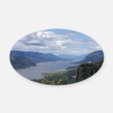 Columbia River gorge Oval Car Magnet