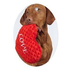 Love puppy Oval Ornament