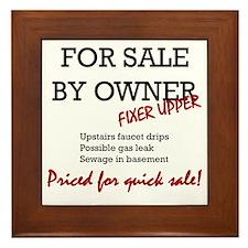 For Sale By Owner Framed Tile