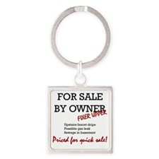 For Sale By Owner Square Keychain