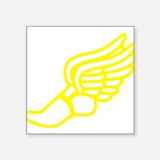 Yellow Running Shoe With Wings Sticker
