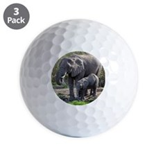 African elephants Golf Ball