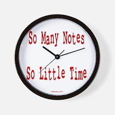 So Many Notes Wall Clock