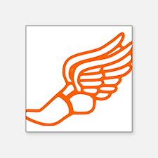 Orange Running Shoe With Wings Sticker
