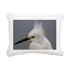 Snowy Egret Rectangular Canvas Pillow