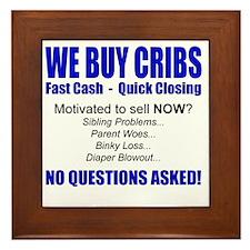 We Buy Cribs Framed Tile