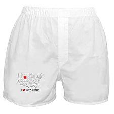 I Love Wyoming Boxer Shorts
