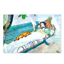 Carl Larsson: Woman Lying Postcards (Package of 8)
