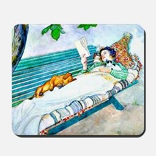 Carl Larsson: Woman Lying on a Bench Mousepad