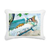 Carl larson woman lying on bench Rectangle Canvas Pillows