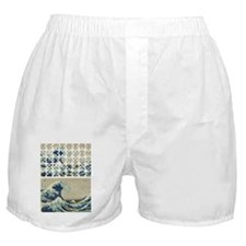 The Great Wave Off PUZZLE Boxer Shorts