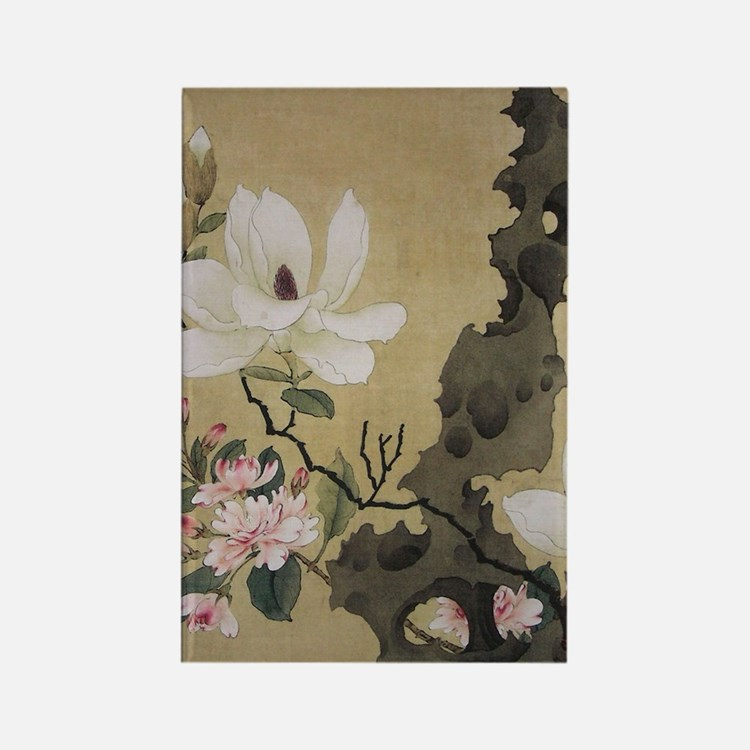 Chen Hongshou Leaf Album Painting Rectangle Magnet