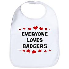 Loves: Badgers Bib