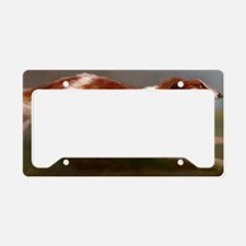 Running Borzoi/Russian Wolfho License Plate Holder
