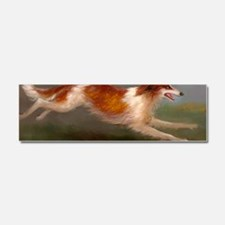 Running Borzoi/Russian Wolfhound Car Magnet 10 x 3