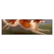 Running Borzoi/Russian Wolfhound Bumper Sticker