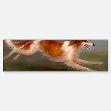 Running Borzoi/Russian Wolfhound Sticker (Bumper)