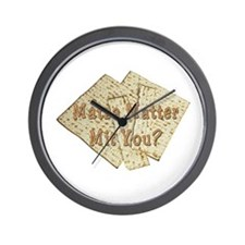Matza Matter Mit You? Wall Clock